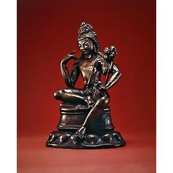 Padmapani Lokeshvara seated in meditation,.. - Art Print
