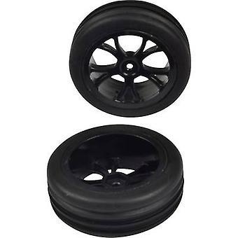 Reely 1:10 buggy hjul rillen reifen 5-dubbel talade svart 1 par