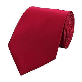 Schlips Krawatte Krawatten Binder Breit 8cm Himbeerrot einfarbig Fabio Farini