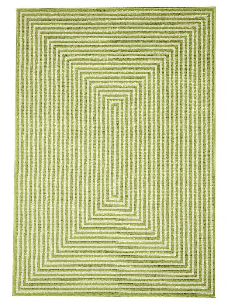 Outdoor carpet for Terrace / balcony green Vitaminic braid Green 133 / 190 cm carpet indoor / outdoor - for indoors and outdoors
