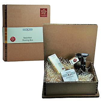 Gold roof trimming set in gift box gift set shaving set beard set gel - basic price 100 ml content: 100 euro