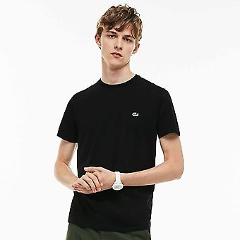 Lacoste Crew Neck Pima Cotton Jersey T-shirt, Black, X-Large
