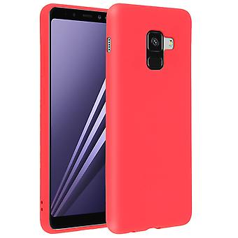 Forcell case for Samsung Galaxy A8, soft touch cover, silicone TPU case - Red