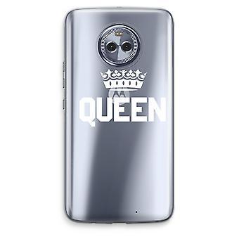 Motorola Moto X4 boîtier Transparent (doux) - reine noir