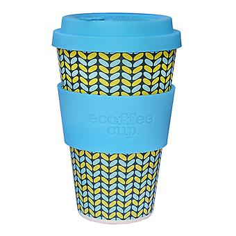 Ecoffee Cup Norweaven with Aqua Silicone 14oz