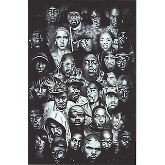 Hip hop Juliste kerääminen (s/w) 91,5 x 61 cm