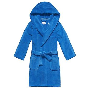 Calvin Klein Boys Modern Cotton Robe, Blue, Medium