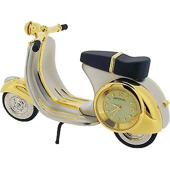 Gift Time Products Scooter Miniature Clock - Gold/Silver