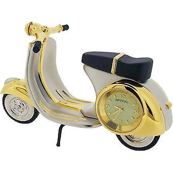 Cadeau produits Scooter Miniature horloge - or/argent