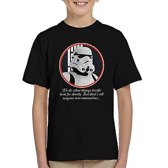 Original Stormtrooper Droids Quote Kid's T-Shirt