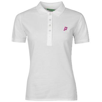 Prince Womens Short Sleeve Polo Shirt Performance Tee Top Cotton Button Placket