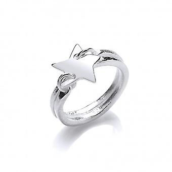 Cavendish francia Silver ' Starry Night ' Ring