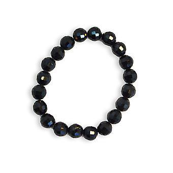 Armband trendy kralen zwart