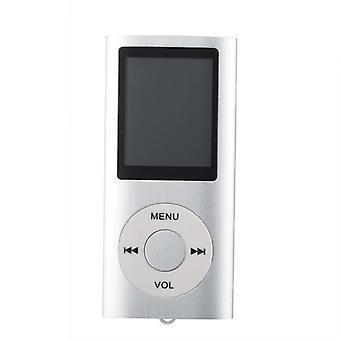 Joueur MP3 mince avec FM Radio Support-Silver