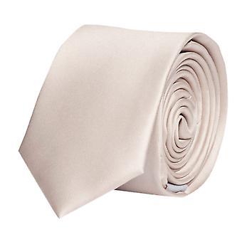 Knyta slips tie slips Schmalt 6cm ivory av uni Fabio Farini