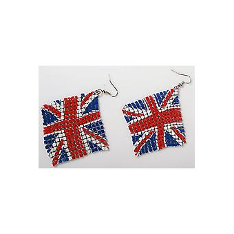 Jewelry and crowns  Earrings English flag UK