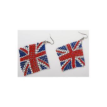 Flaga Polski na kolczyki Biżuteria i korony UK