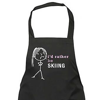 Ladies I'd Rather Be Skiing Apron