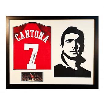 Manchester United Cantona signiertes Trikot von Silhouette