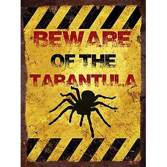Vintage metalowy znak ściana - Strzeż się tarantula