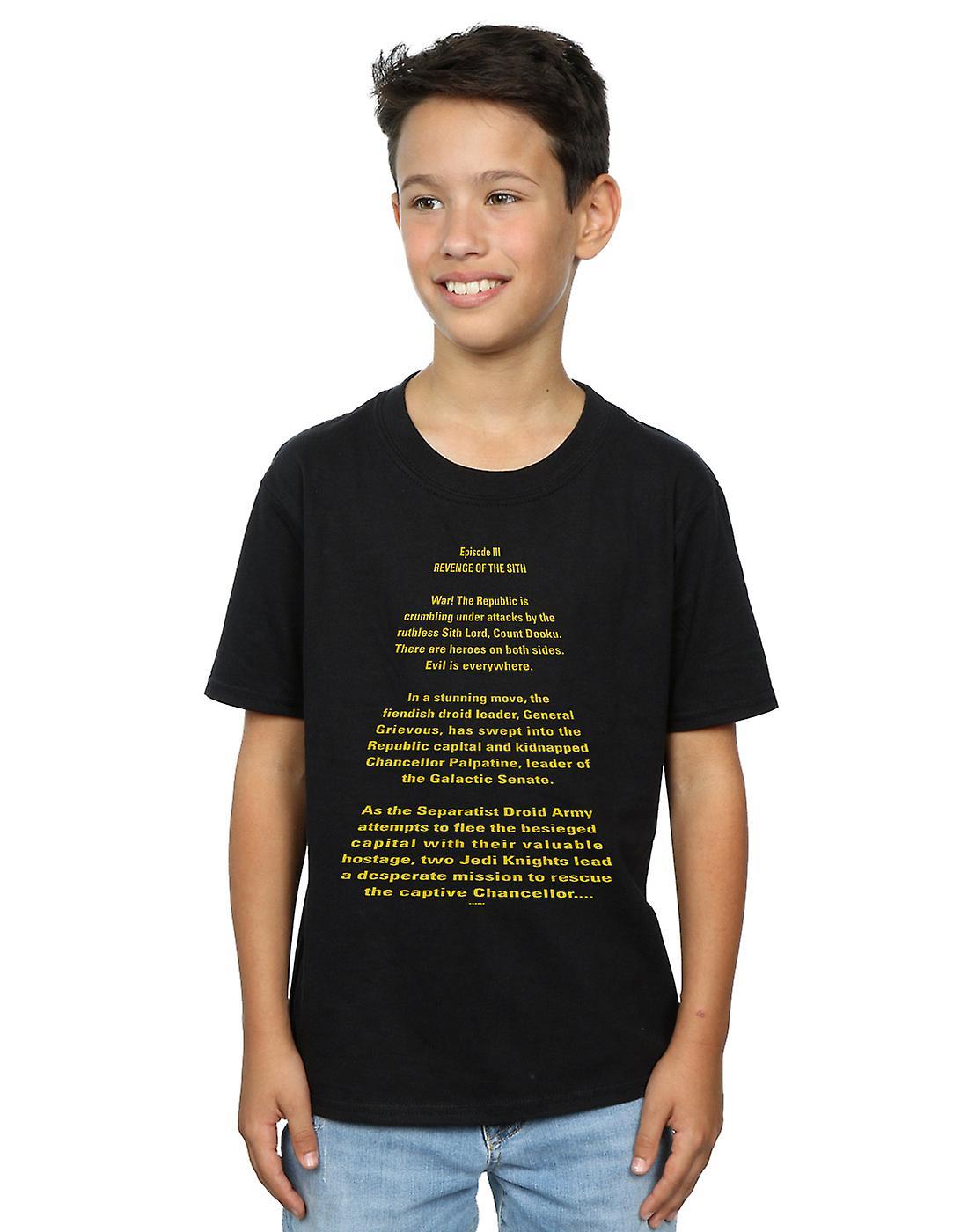 Star Wars Boys Revenge Of The Sith Opening Crawl T-Shirt