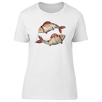 Vintage znak zodiaku Ryby Symbol Koszulka męska-obraz przez Shutterstock