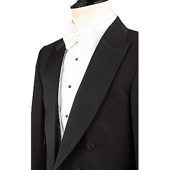 Dobell miesten musta ilta valkoinen tie Tailcoat takki 100% villaa