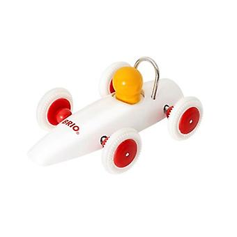 Brio Race Car 30077 White Wooden Toddler Toy