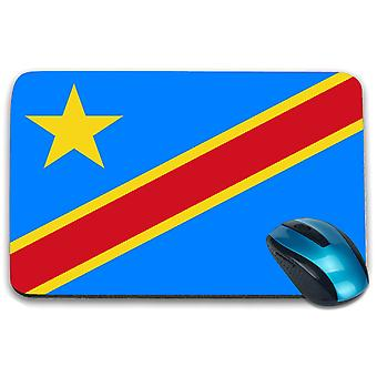 i-Tronixs - Democratic Republic of Congo Flag Printed Design Non-Slip Rectangular Mouse Mat for Office / Home / Gaming - 0039