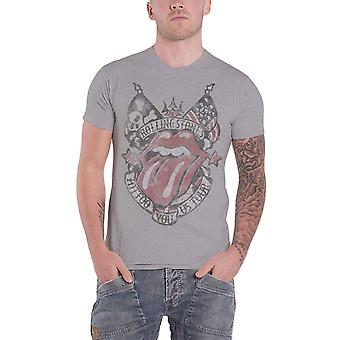 The Rolling Stones T Shirt Tattoo You USA Tour distressed new Official Mens