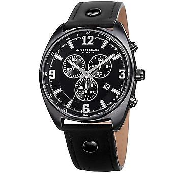 Akribos XXIV orologio da polso svizzero in pelle multifunzione al quarzo AK969BK