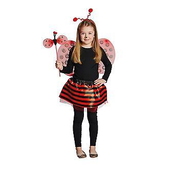Ladybird set child Deluxe 4pcs headband wings rock bar child costume Carnival