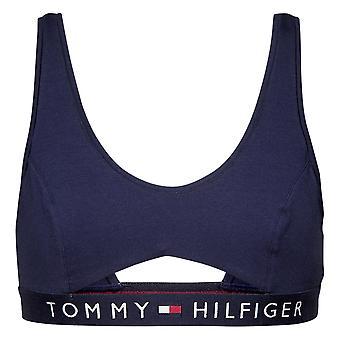 Tommy Hilfiger original bomuld skåret ud Bralette-Navy blazer