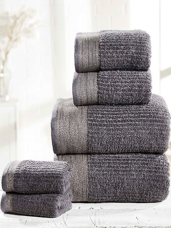 Mayfair 6 Piece Towel Bale Charcoal