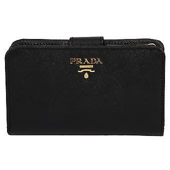 Prada Black Saffiano Leather Wallet 1ML225 QWA F0002