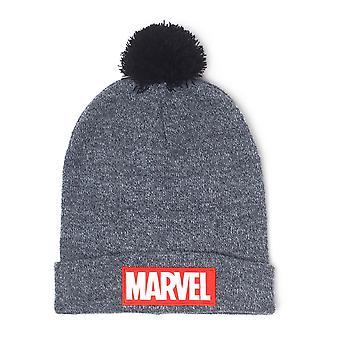 Marvel Beanie logo grey, embroidered, made of 100% polyacrylic, adult size.