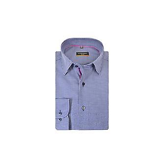 Eterna Casual Eterna Slim Fit Long Sleeve Shirt Navy Check