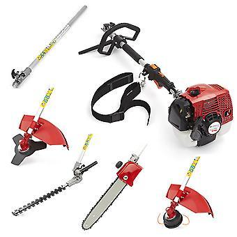 TrueShopping Professional 5in1 Petrol Garden Trimmer Brushcutter Chainsaw Pruner
