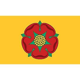 5 pi x 3 pi drapeau - UK - Lancashire Rose