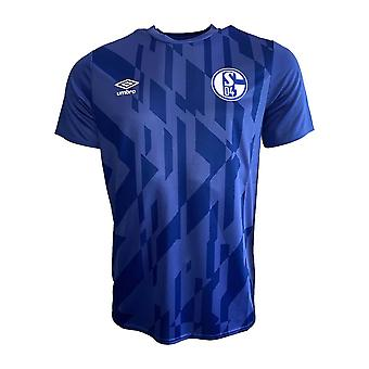 2019-2020 Schalke Umbro Warm Up Shirt (Blue)