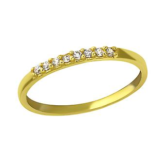 Sparkling - 925 Sterling Silver Jewelled Rings - W37502x