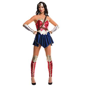Womens Dawn of Justice Wonder Woman Costume Superhero Fancy Dress