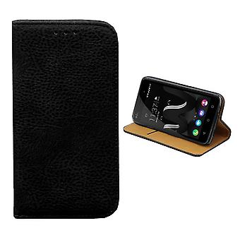 Wiko Lenny 3 Leather Case Black - Bookcase