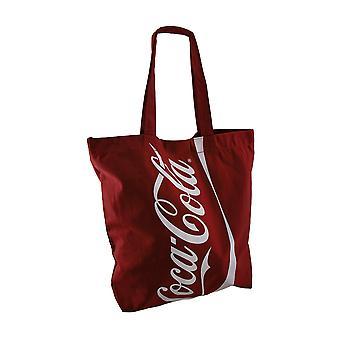 Oficjalnie licencjonowane duży czerwony Coca-Cola Logo płótnie torba