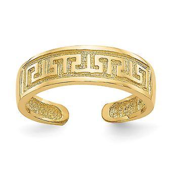 14k Ceno amarelo poluina de chave grega de doto de chave joias para mulheres - 2,1 Gramas
