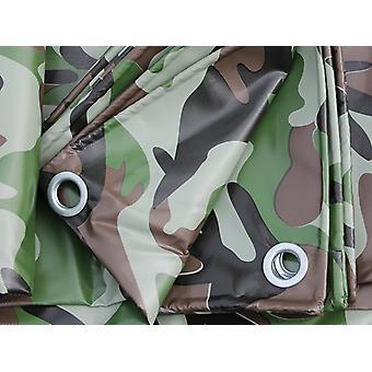 Camouflage afdekzeil 4x6m, PVC 450g/m²