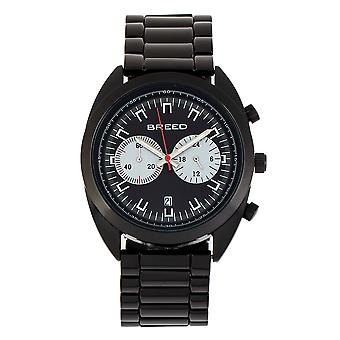 Breed Racer Chronograph Bracelet Watch w/Date - Black