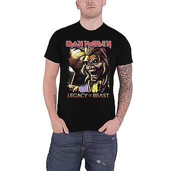 Iron Maiden T Shirt Legacy of the Beast Killers Band Logo Official Mens Black