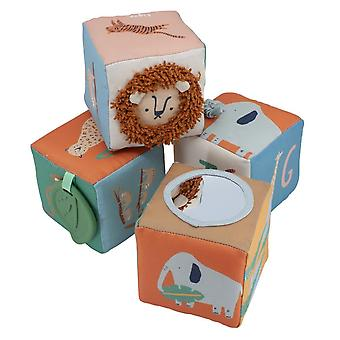 Sebra - soft baby blocks - wildlife