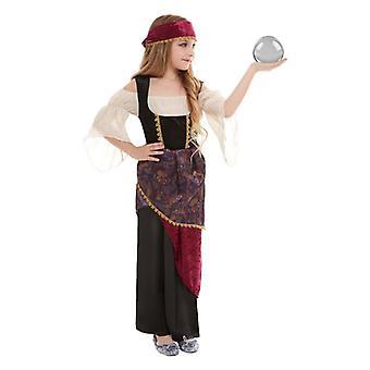Ragazze Fortune Teller Gypsy Fancy Dress Costume bambini